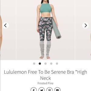 Lululemon Free to be serene bra high neck size 2